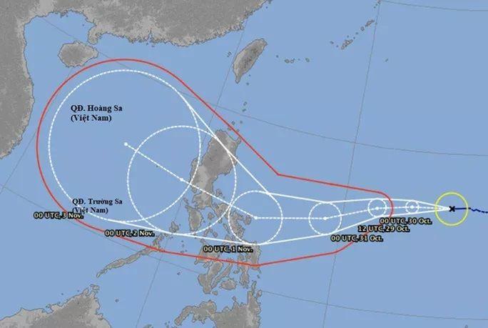 Siêu bão Goni dự báo sẽ vào Biển Đông ngày 2/11