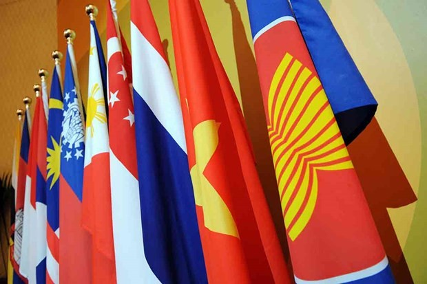 Flags of ASEAN and its member States (Source: AFP)