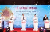 Another solar power plant inaugurated in Ninh Thuan