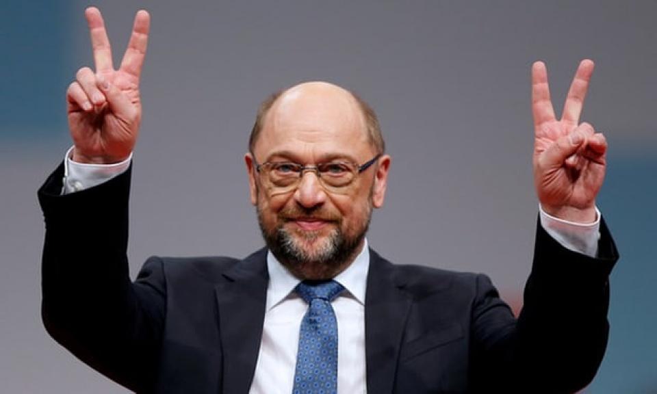 Chủ tịch SPD Martin Schulz. (Nguồn: The Guardian)