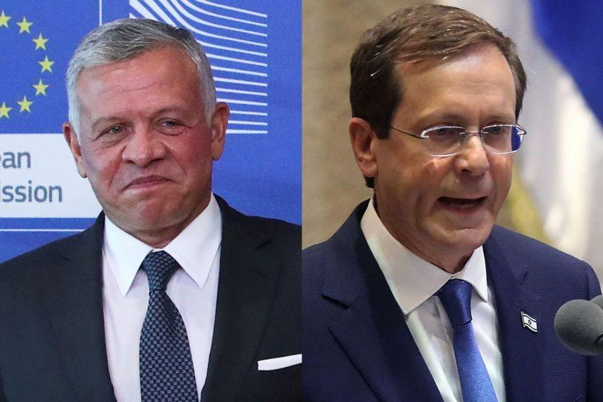 Quốc vương Jordan Abdullah II ngày 10/7 đã điện đàm với tân Tổng thống Israel Isaac Herzog.