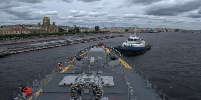 Tàu Hải quân Pakistan PNS Zulfiquar đã đến Nga, chuẩn bị tham gia tập trận hải quân hải quân chung vào ngày 27/7. (Nguồn: BOL)