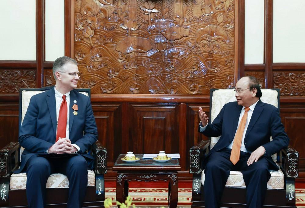 Chủ tịch nước Nguyễn Xuân Phúc tiếp Đại sứ Hoa Kỳ tại Việt Nam