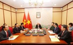 Tổng Bí thư, Chủ tịch nước Nguyễn Phú Trọng điện đàm với Tổng thống Nga