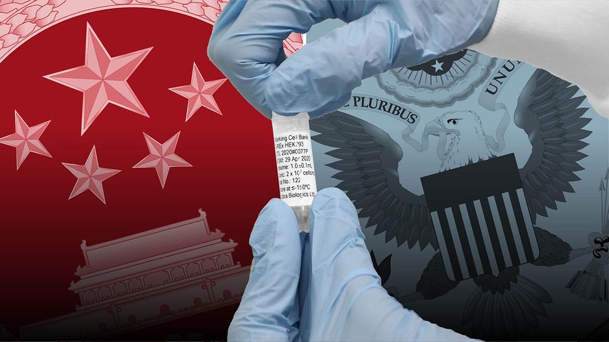 Cạnh tranh Mỹ - Trung dường như đang nóng lên trên một mặt trận khác: Ngoại giao vaccine ngừa Covid-19. (Nguồn: FT)
