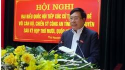 Phó Thủ tướng Phạm Bình Minh tiếp xúc cử tri chuyên đề với cán bộ, chiến sĩ Công an tỉnh Thái Nguyên