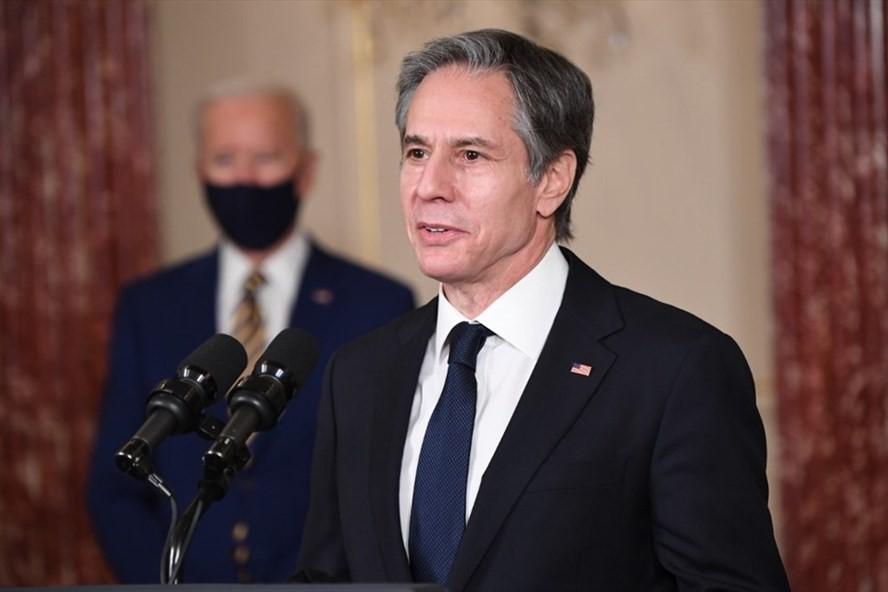 Ngoại trưởng Mỹ Antony Blinken. Ảnh: AFP.