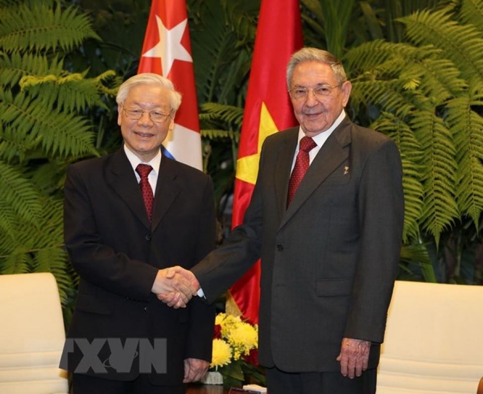 Tổng Bí thư Nguyễn Phú Trọng và đồng chí Raul Castro