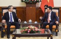 Phó Thủ tướng Phạm Bình Minh tiếp Đại sứ Nhật Bản Yamada Takio