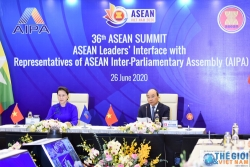 pm na chairwoman attend asean leaders interface with representatives of aipa