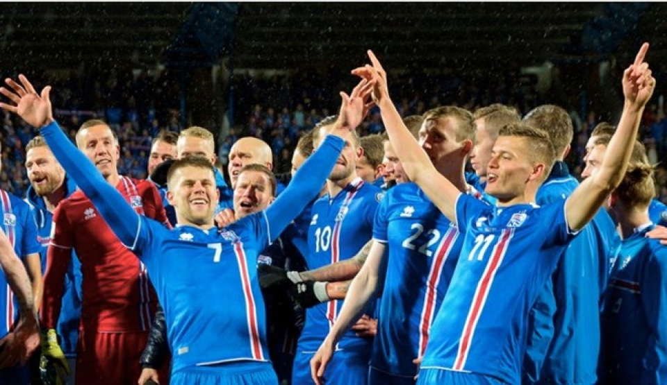 iceland tao nen dia chan khi gianh ve du vck world cup 2018