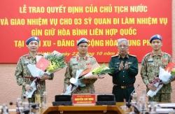 Thêm những chiến sỹ 'mũ nồi xanh' làm nhiệm vụ gìn giữ hòa bình Liên hợp quốc