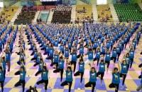7000 người đồng diễn trong Ngày quốc tế Yoga 2017 tại Việt Nam
