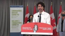 Thủ tướng Justin Trudeau khích lệ người dân cài đặt ứng dụng cảnh báo nguy cơ nhiễm Covid-19