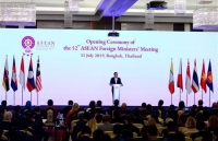 52nd asean foreign ministers meeting opens in thailand