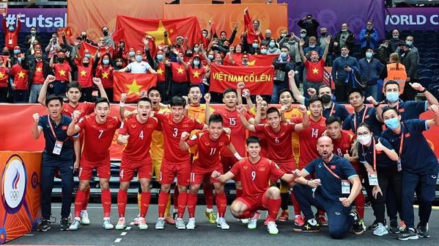 Dù đã bị loại, nhưng đội tuyển futsal Việt Nam đã có một kỳ World Cup đáng tự hào. (Nguồn: VFF)