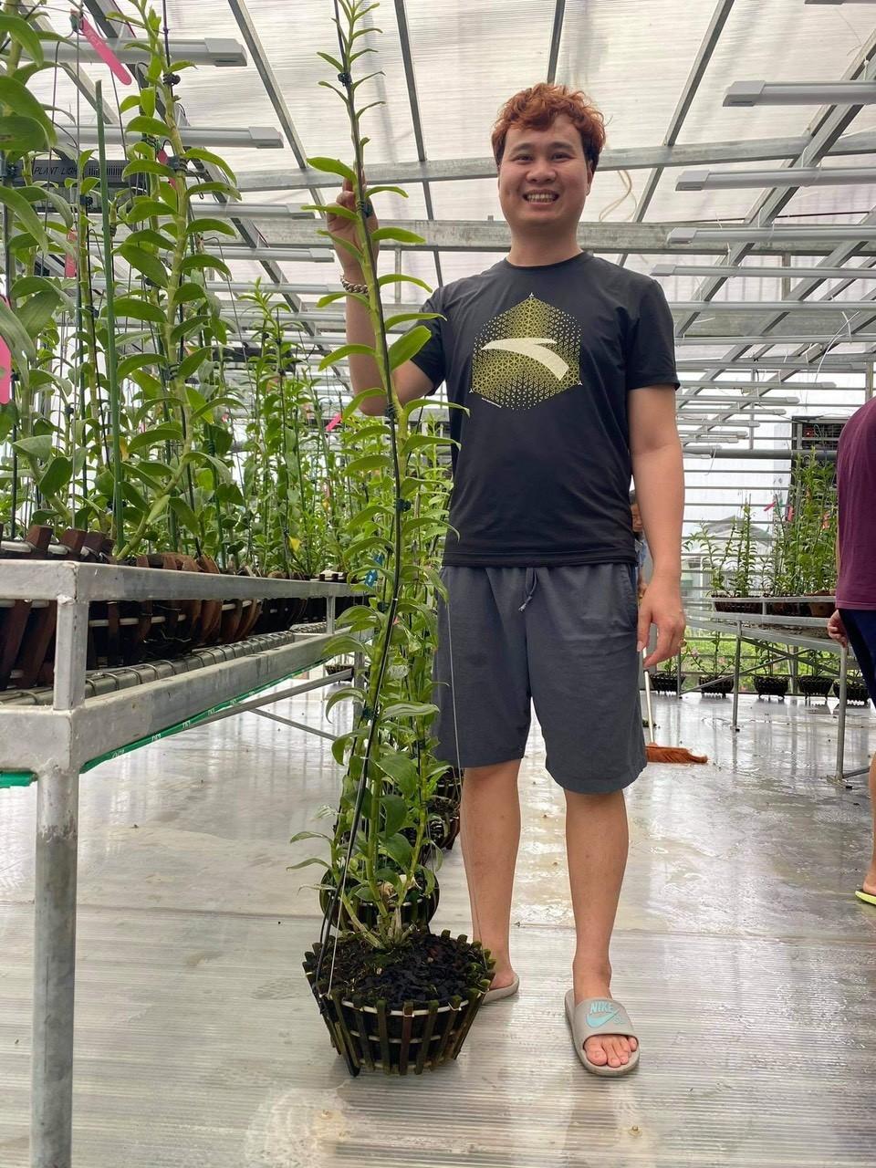 thời gian đầu vì chưa có kinh nghiệm trồng lan nên Trần Vinh cũng gặp phải nhiều khó khăn và thất bại.