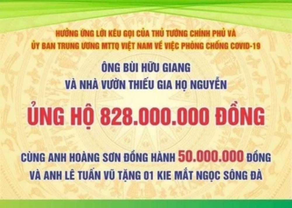 Ông chủ vườn lan Thiếu gia họ Nguyễn kêu gọi quyên góp chung tay cùng cả nước chống dịch Covid-19