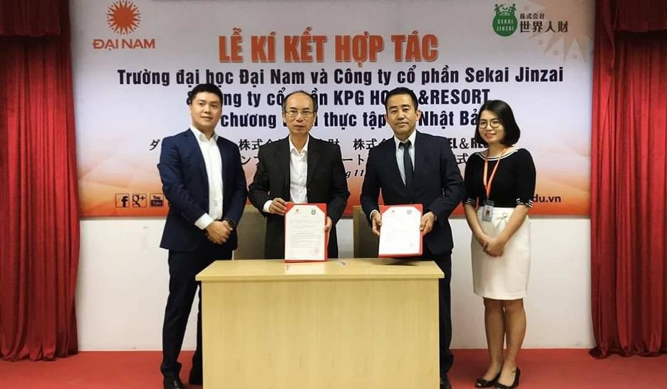 Trường ĐH Đại Nam và Công ty Cổ phần Sekai Jinzai ký kết chương trình thực tập có lương tại Nhật Bản.