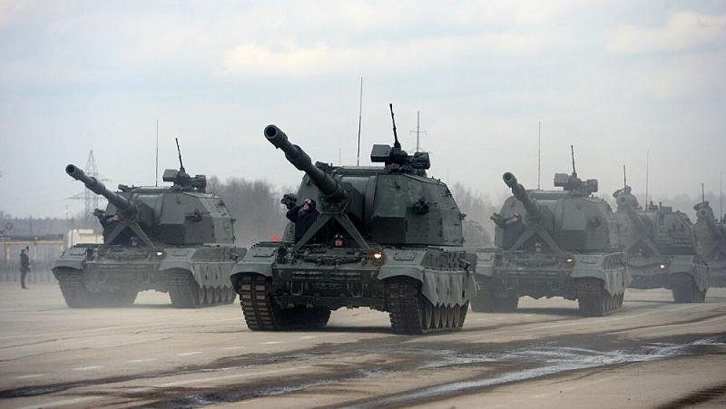 Pháo tự hành mới nhất Koalitsiya-SV được thử nghiệm ở chế độ 'Bão lửa'
