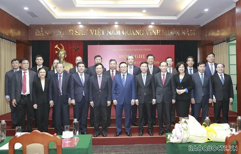Hội nghị triển khai quyết định của Bộ Chính trị về nhân sự Trưởng Ban Đối ngoại Trung ương