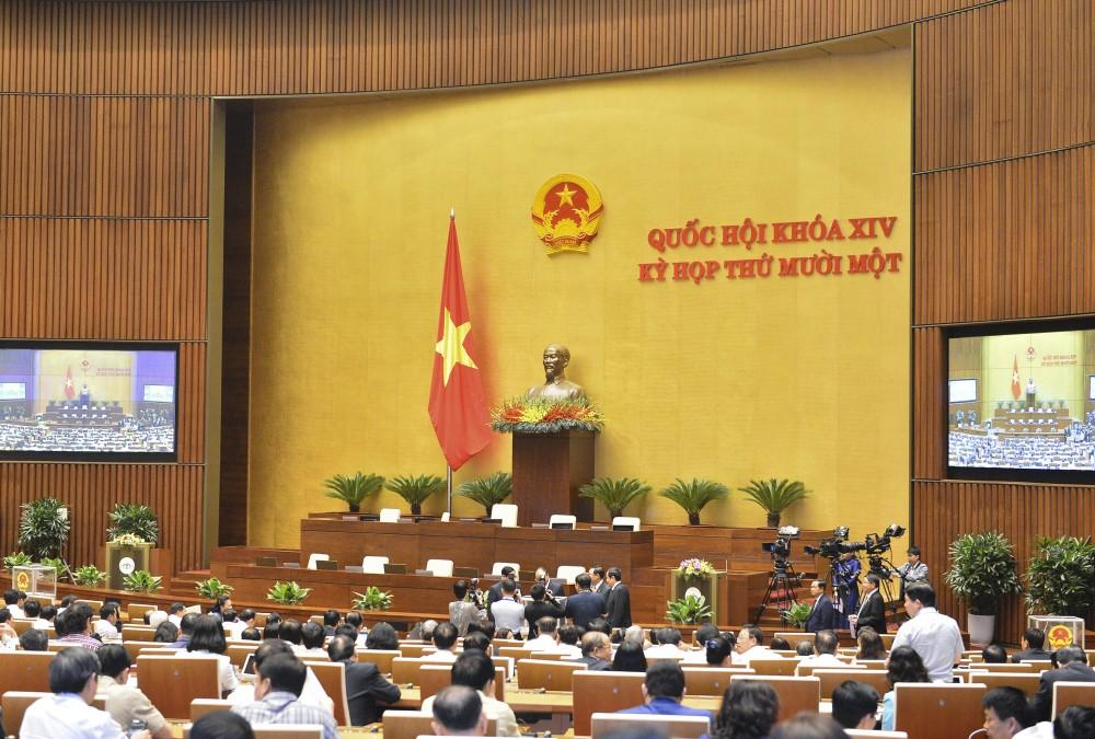 Toàn cảnh Quốc hội miễn nhiệm Phó Chủ tịch nước, một số ủy viên Ủy ban Thường vụ Quốc hội, Chủ nhiệm một số Ủy ban của Quốc hội, Tổng Thư ký Quốc hội, Tổng Kiểm toán nhà nước bằng hình thức bỏ phiếu kín