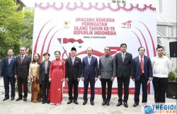 Deputy Foreign Minister Nguyen Quoc Dung attended Indonesia's Independence Day in Ha Noi