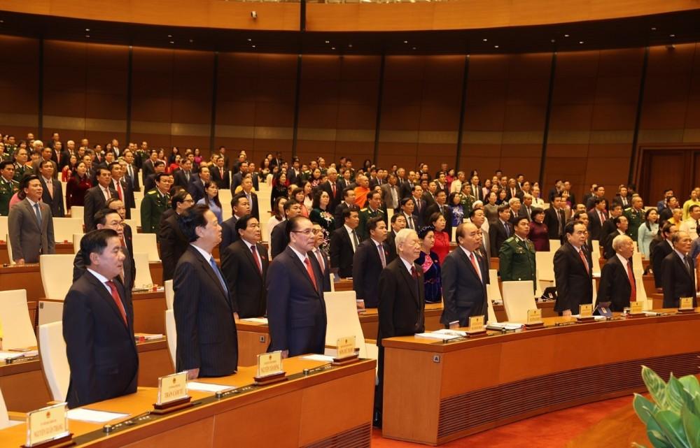 Toàn cảnh phiên khai mạc Kỳ họp thứ 11, Quốc hội khóa XIV qua ảnh