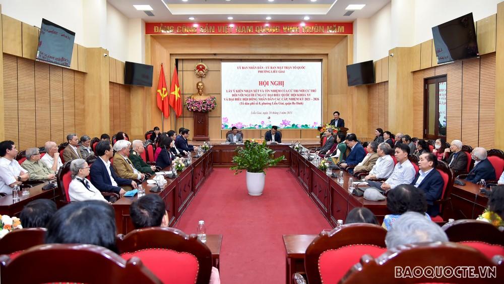 Cử tri phường Liễu Giai tín nhiệm tuyệt đối với người ứng cử đại biểu Quốc hội khóa XV, nhiệm kỳ 2021-2026