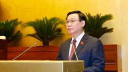 Chủ tịch Nhân đại Trung Quốc Lật Chiến Thư gửi điện chúc mừng Chủ tịch Quốc hội Vương Đình Huệ