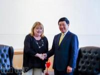 Phó Thủ tướng Phạm Bình Minh tiếp xúc song phương tại New York