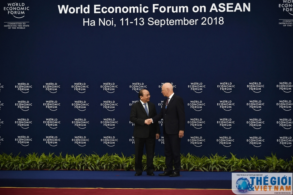 toan canh le don cac truong doan tham du wef asean 2018